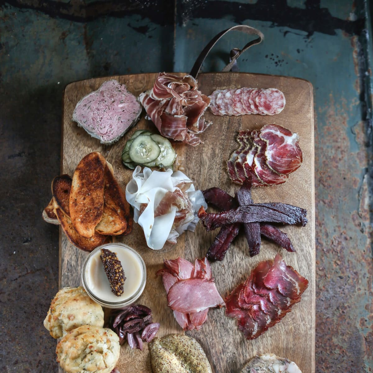 Bacon Bros charcuterie platter