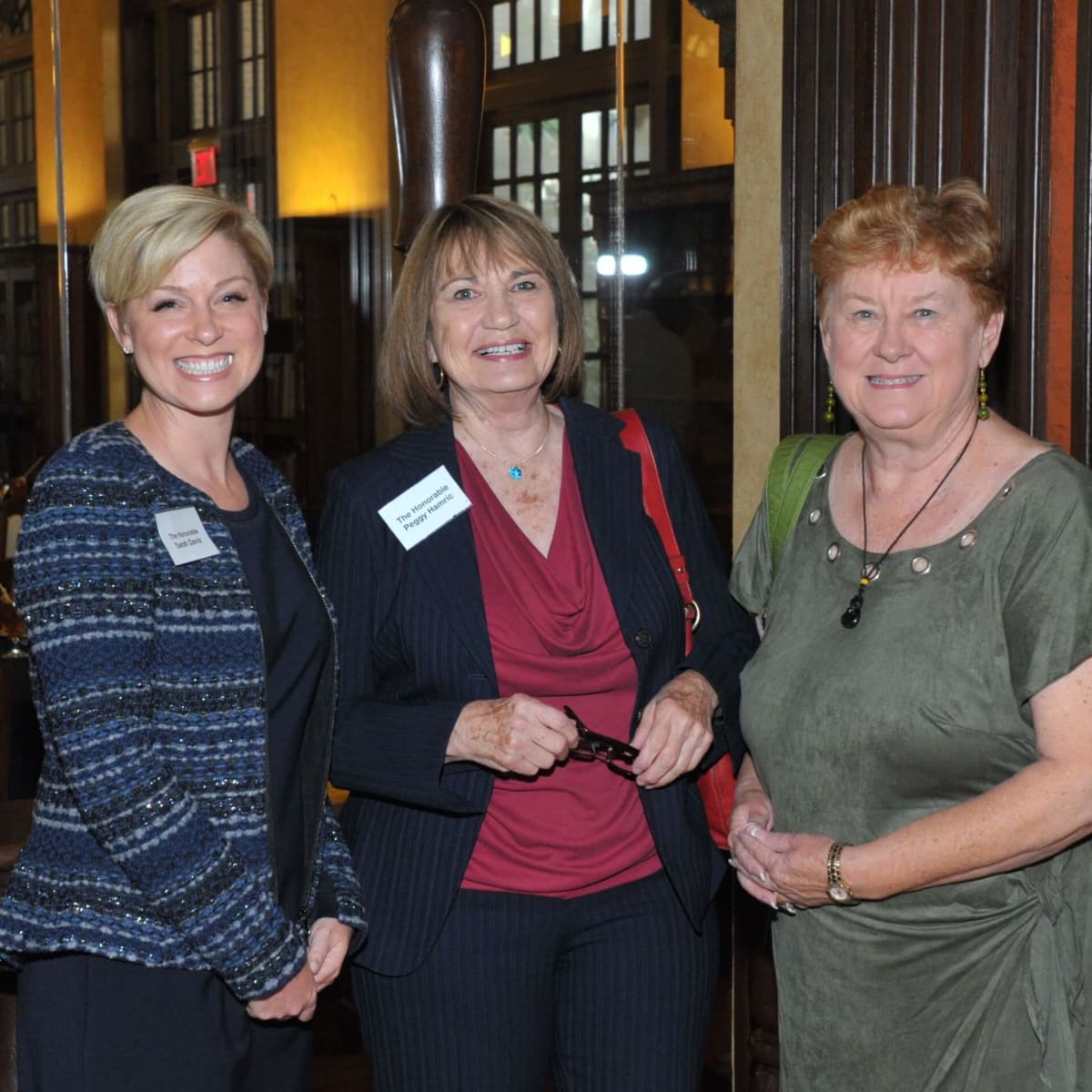 Sarah Davis, Peggy Hamric, Beverly Kaufman at Hobby Center for Public Policy lunch