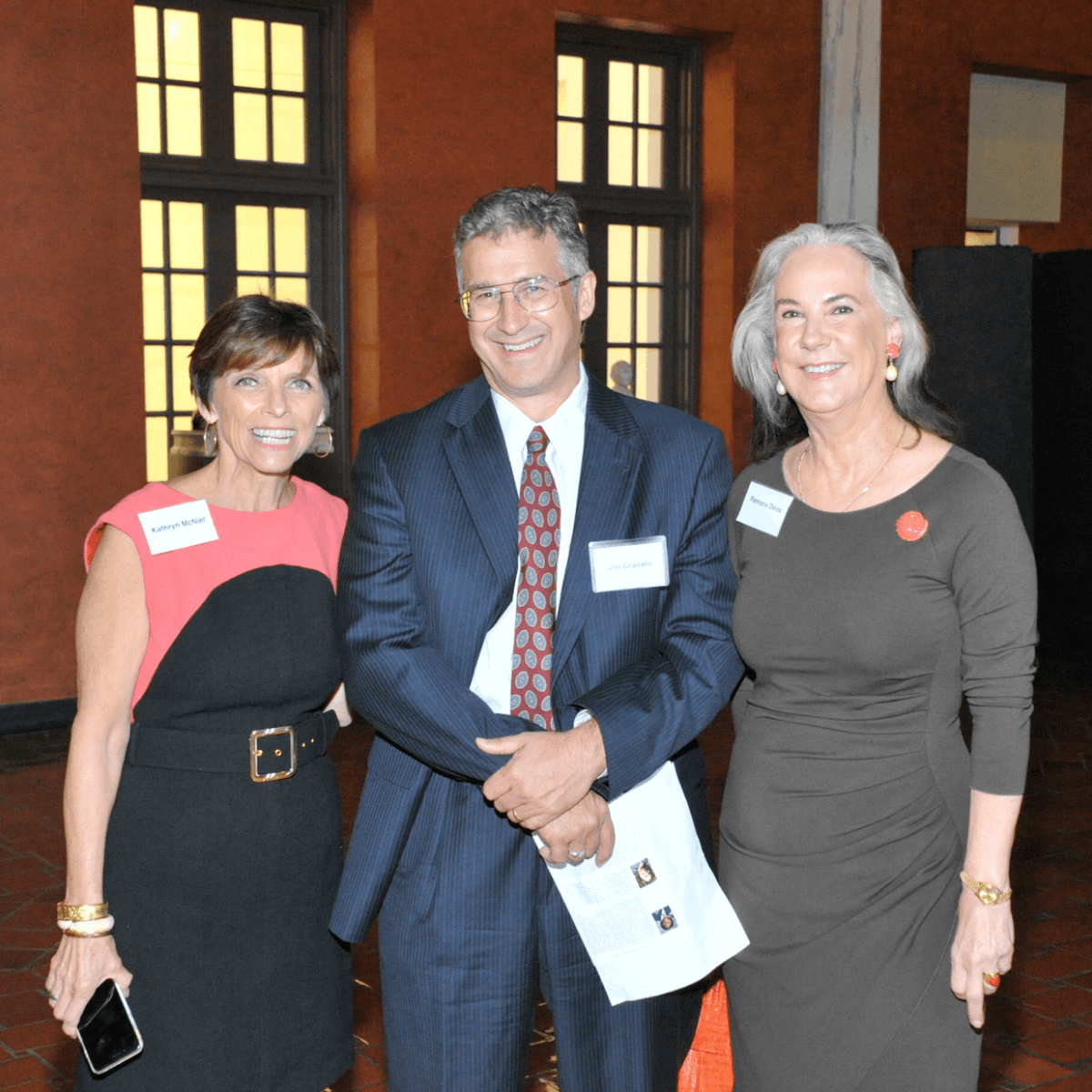 Kathryn McNiel, Jim Granato, Ramona Davis at Hobby Center for Public Policy lunch