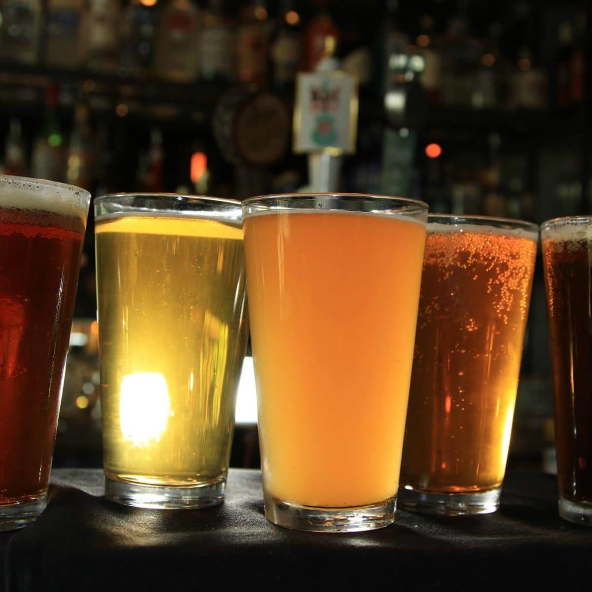 Beer light dark pints