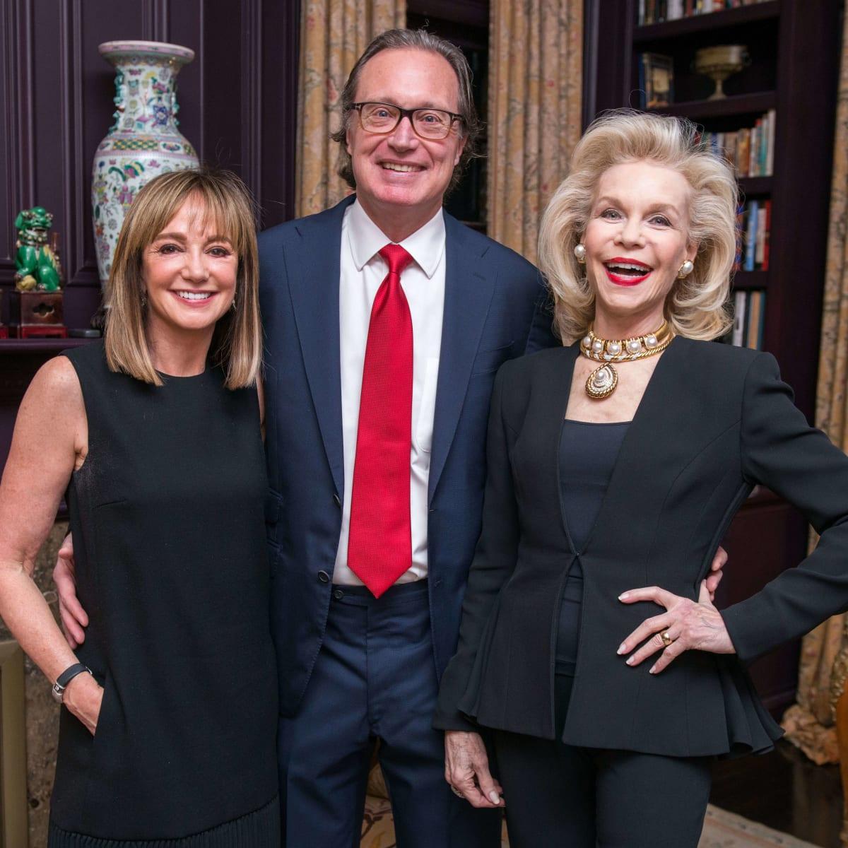 Janet Gurwitch, Ron Franklin, Lynn Wyatt at dinner for Brandon Maxwell