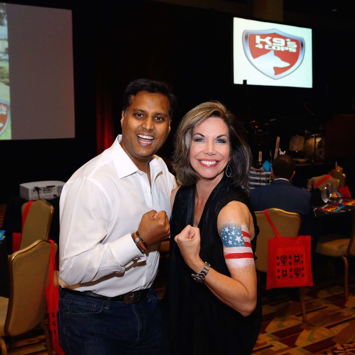K9s4COPs Unleashed Gala, Dr. Aashish Shah, Roseann Rogers