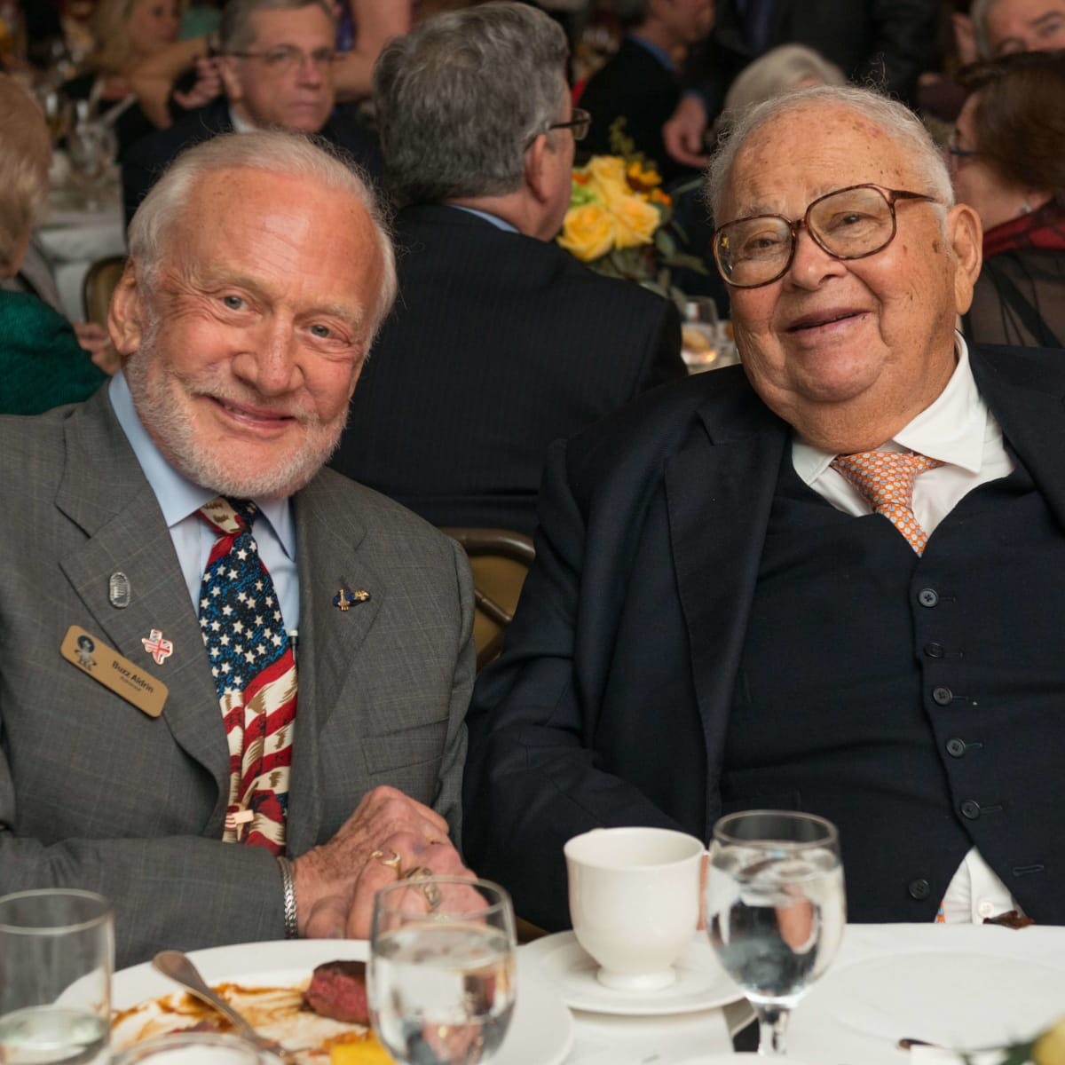 TEACH DINNER/Buzz Aldrin and Fayez Sarofim