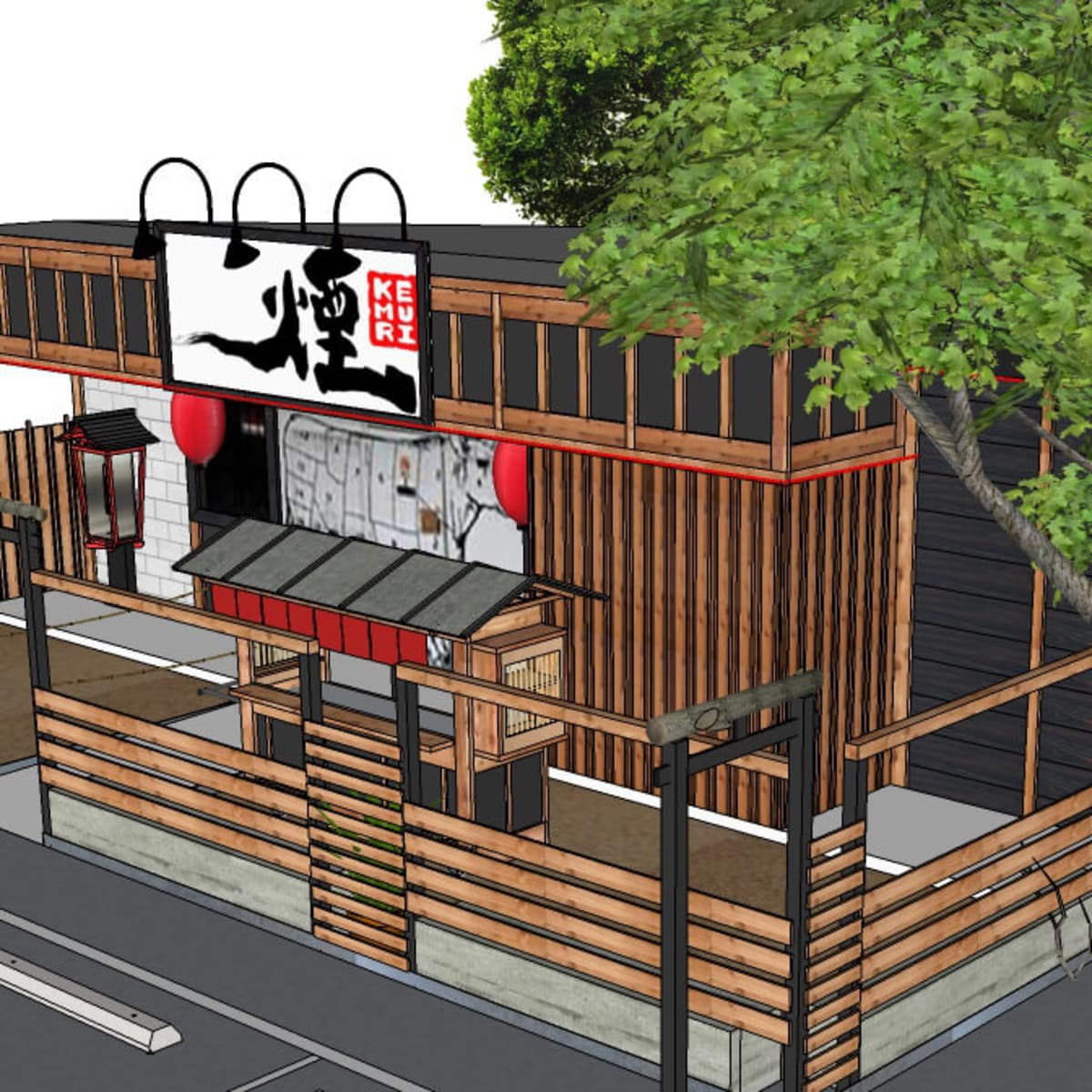 Kemuri Tatsu-ya rendering 2016