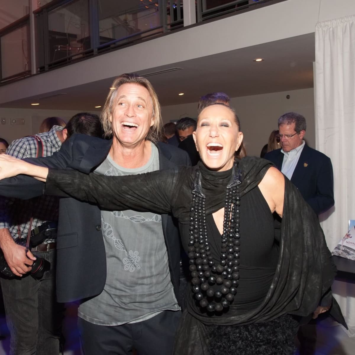 Russell James, Donna Karan at Nomad fundraiser