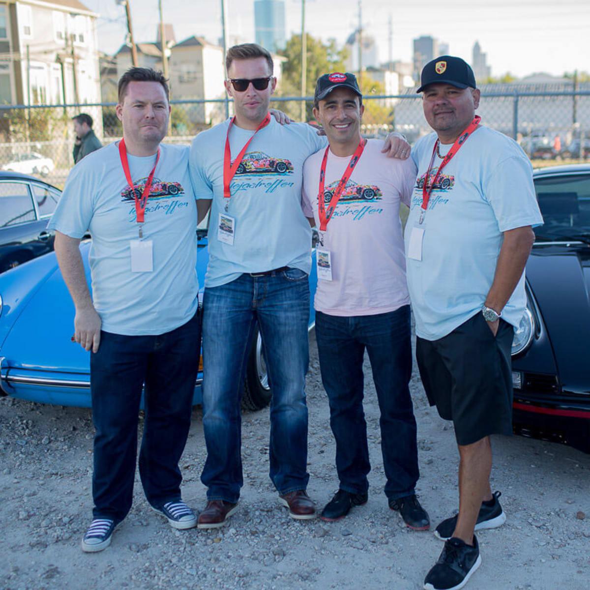 Houston, TejasTreffen Porsche event, Nov 2016, Rudy Mancinas, Michael Meldrum, Antonio Kawage, Neils Meissner