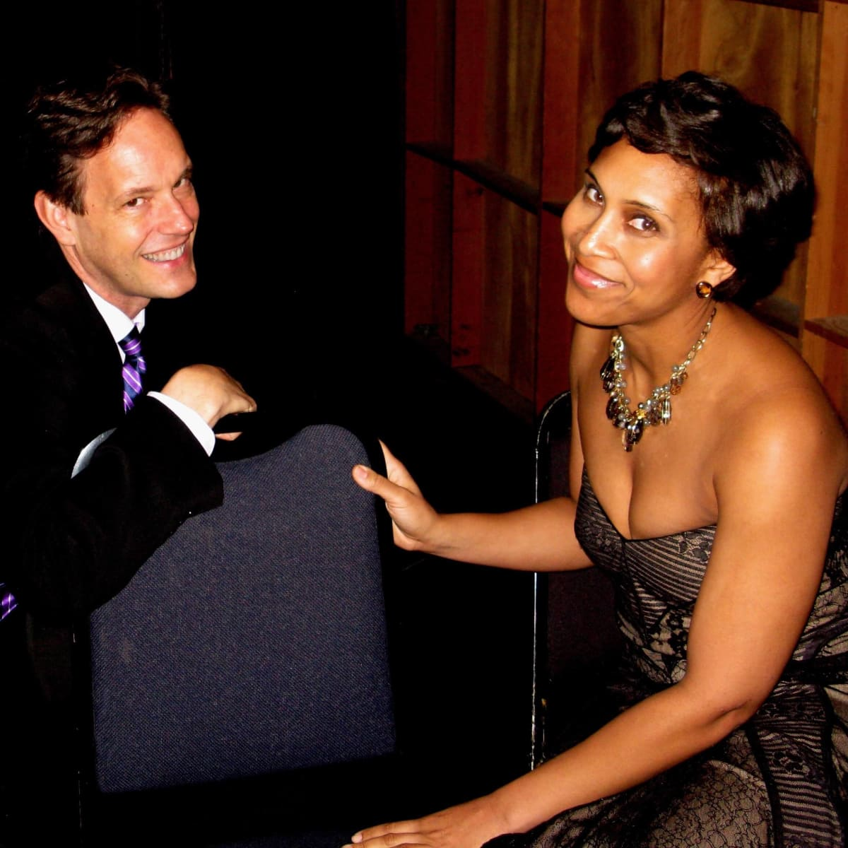 HGO's It's a Wonderful Life, Composer Jake Heggie and Clara (Talise Trevign)