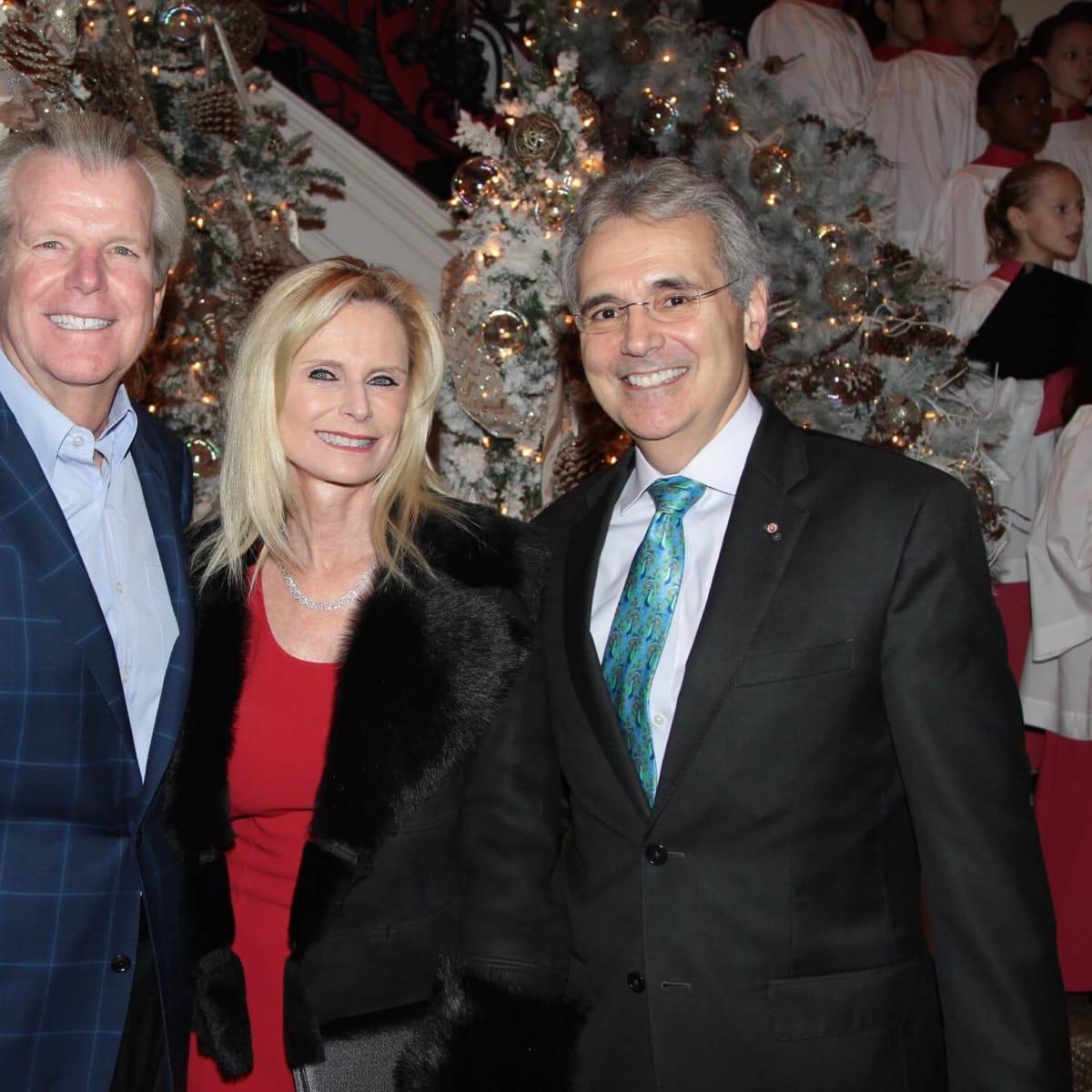 MD Anderson Santa's Elves party, Gregg Falgout, Jo Lynn Falgout, Ron DePinho