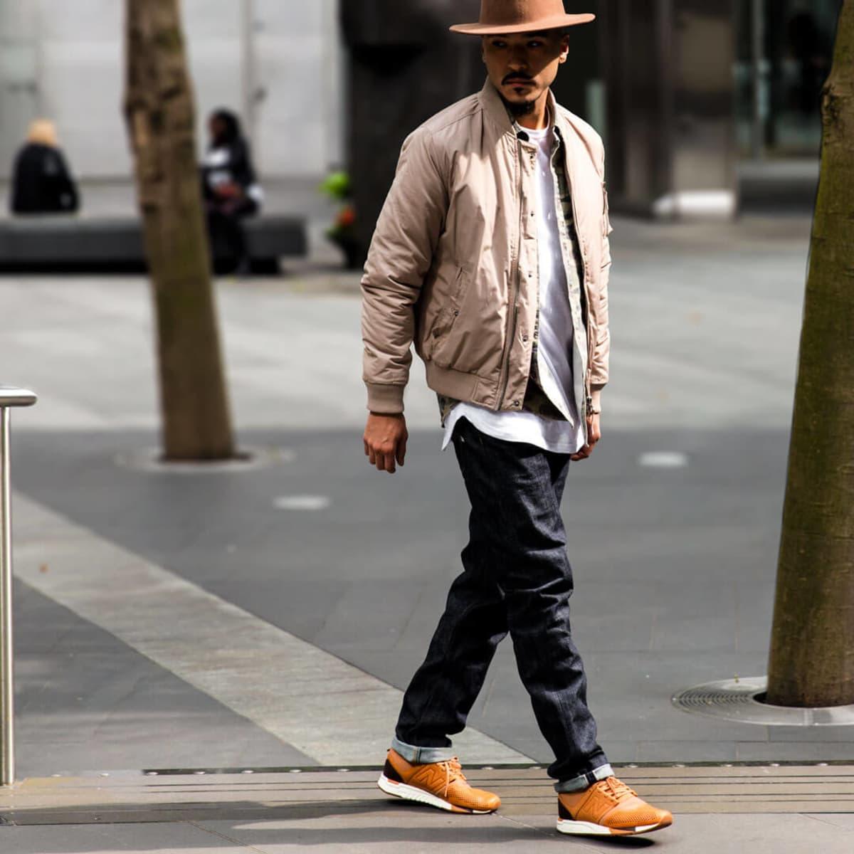 New Balance 247 shoes on model