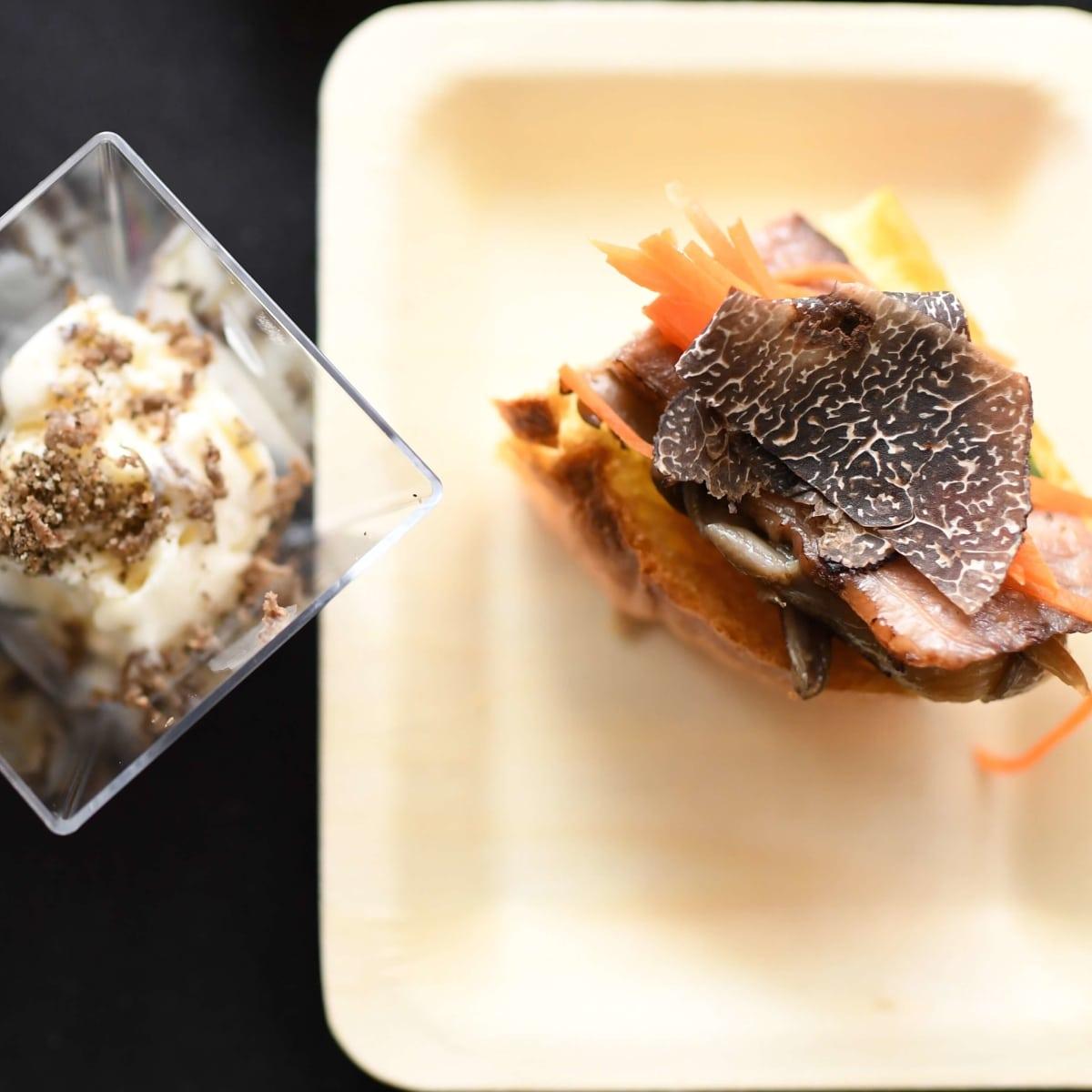 Truffle Masters 2017 first place winner Kata Robata honey truffle ice cream and open face truffle banh mi