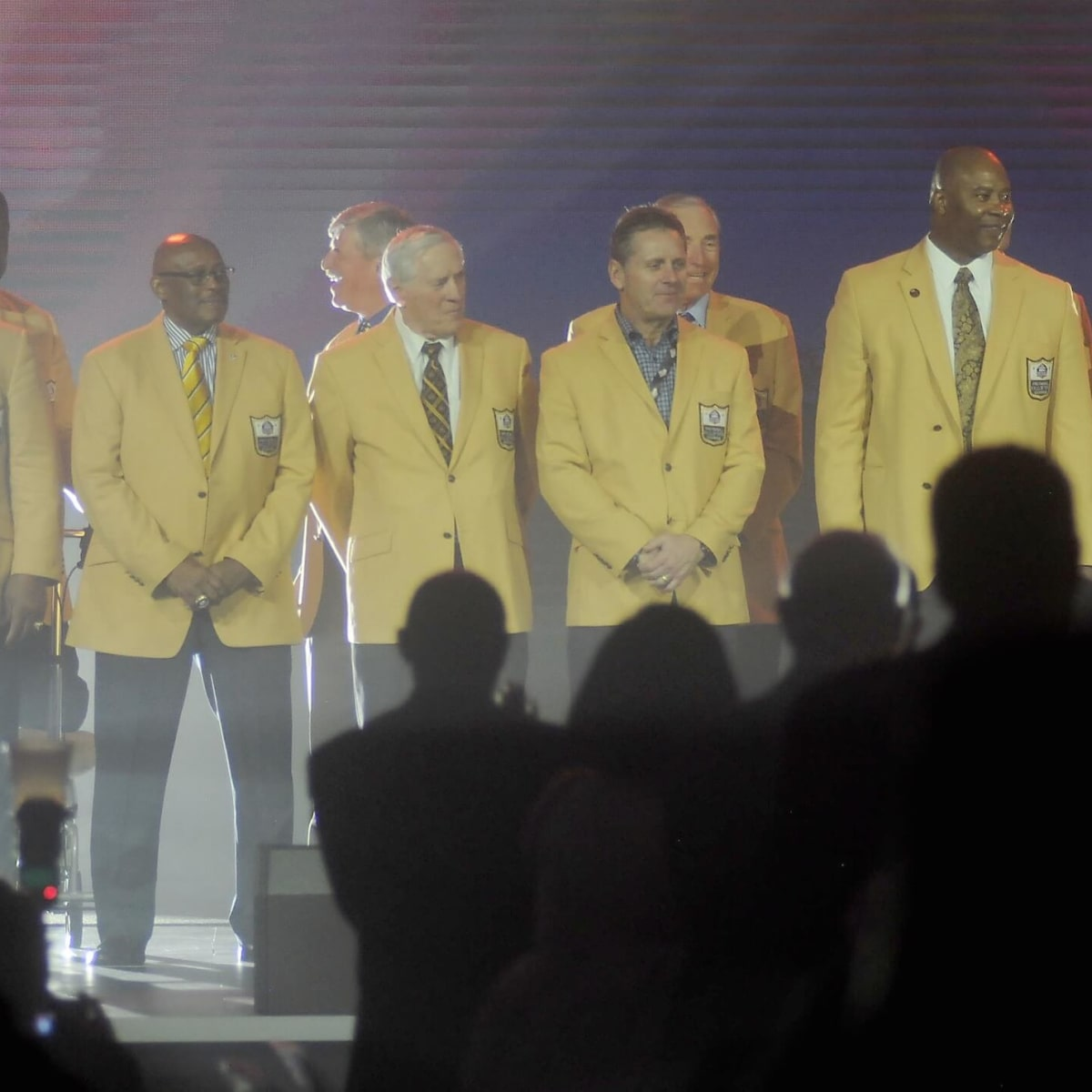 NFL Hall of Fame players at Luminaries Super Bowl Gala