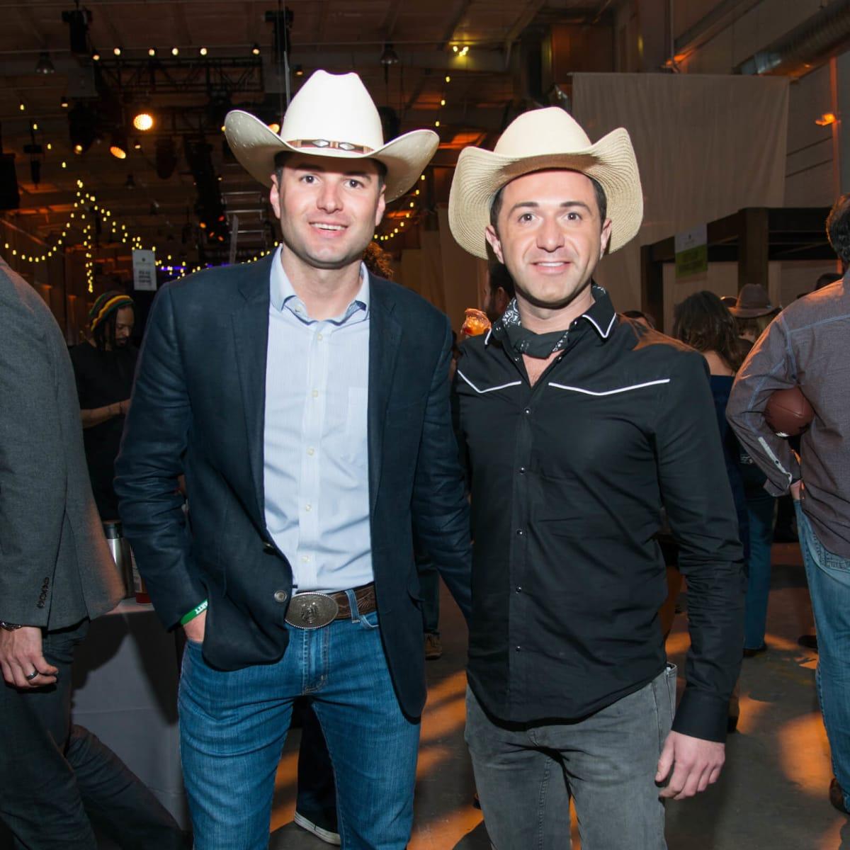 Jonathan Gillis, Drew Karedes at Big Texas Party