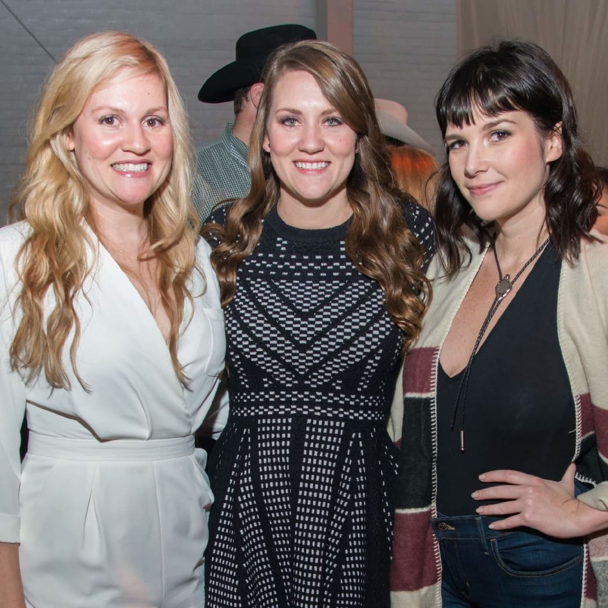 Amber Morgan, Ashton Morgan, Kathlee Akers at Big Texas Party