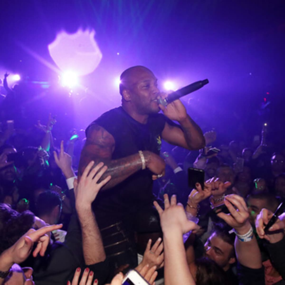 Houston, Playboy and Tao Super Bowl Party, Jan 2017, Recording artist Flo Rida performs onstage