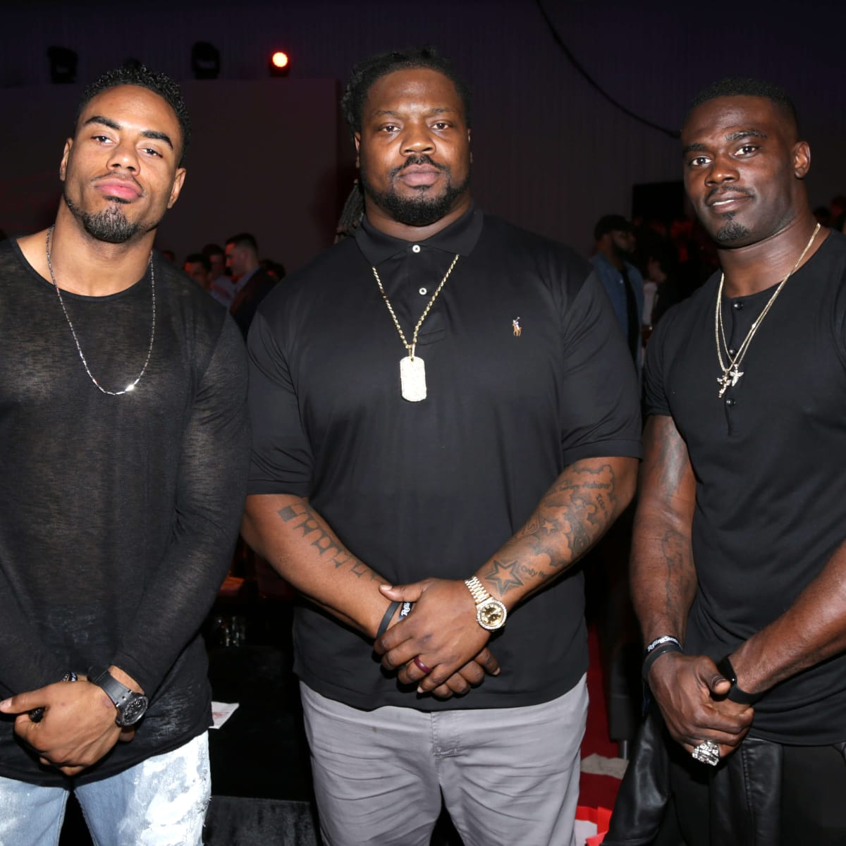 Houston, Rolling Stone Super Bowl party, Jan 2017, Rashad Jennings, Damon Harrison, James Ihedigbo