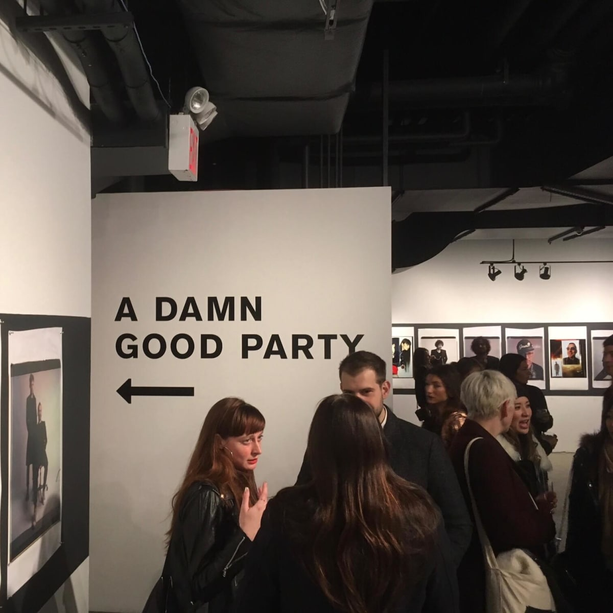 Damn Good Party sign at Rag & Bone party
