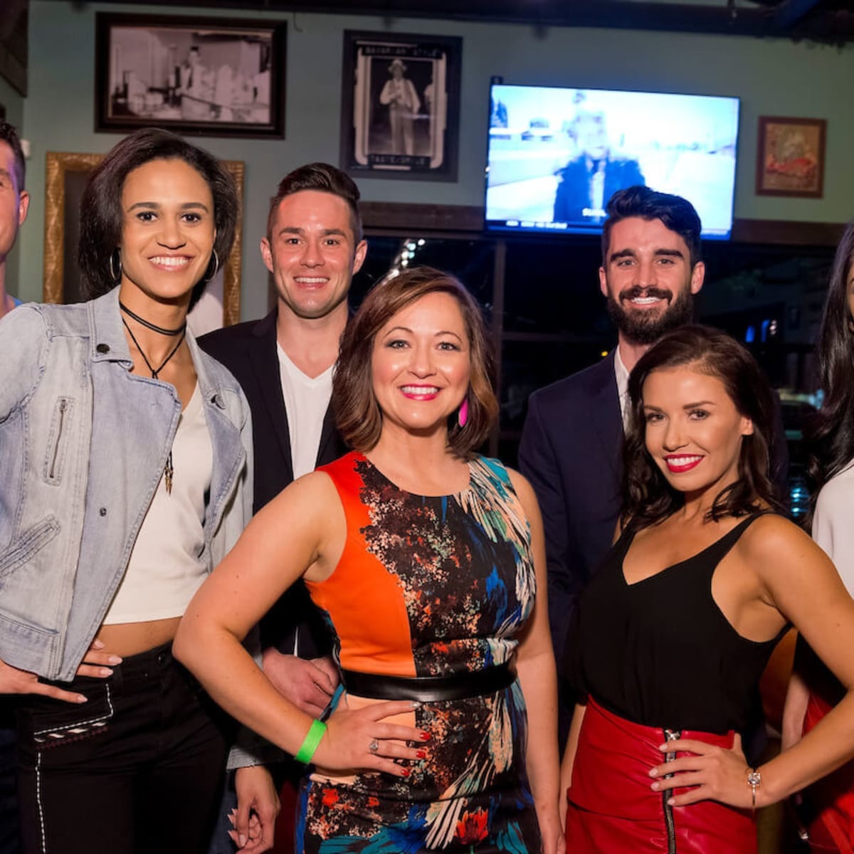 Houston, Red Buds Date Auction, Feb 2017, Karl Kremser, Alex Hendren, Michael Malthaner, Alexa Covarrubias, Lacee Jacobs, Cindy Elena Rodriguez, Dalia Orlenas