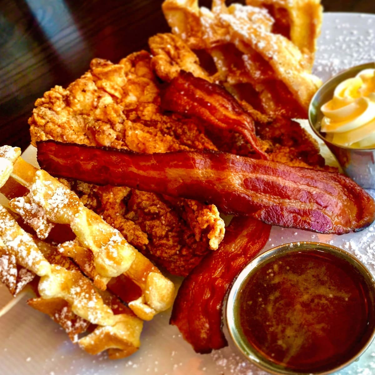 Gramma Minnie's Fried Chicken & Waffles from Jasper's