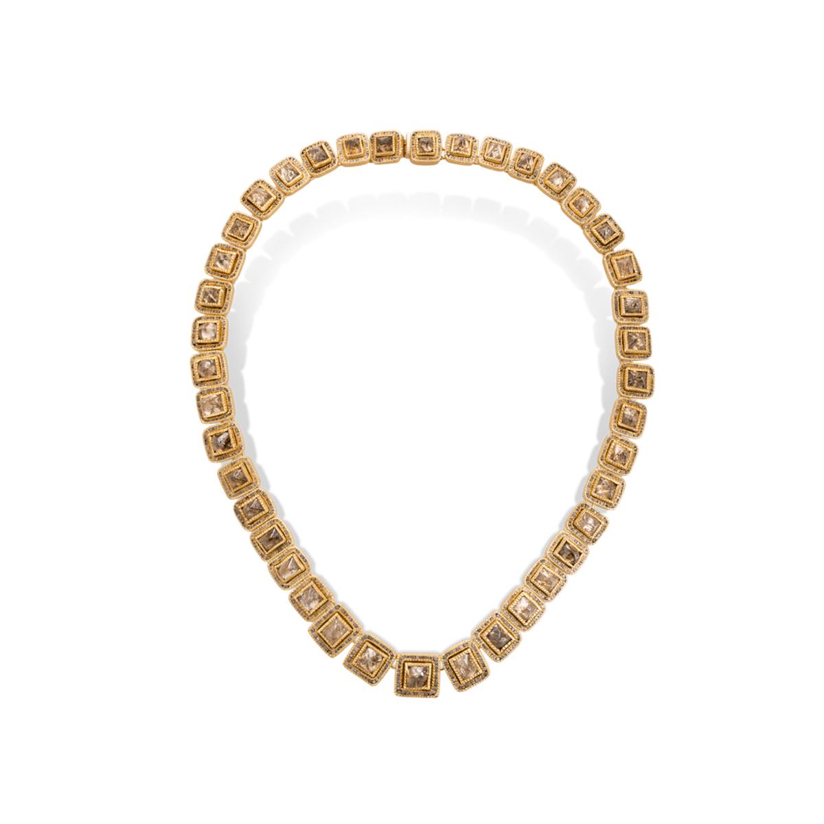 Todd Reed raw diamond necklace