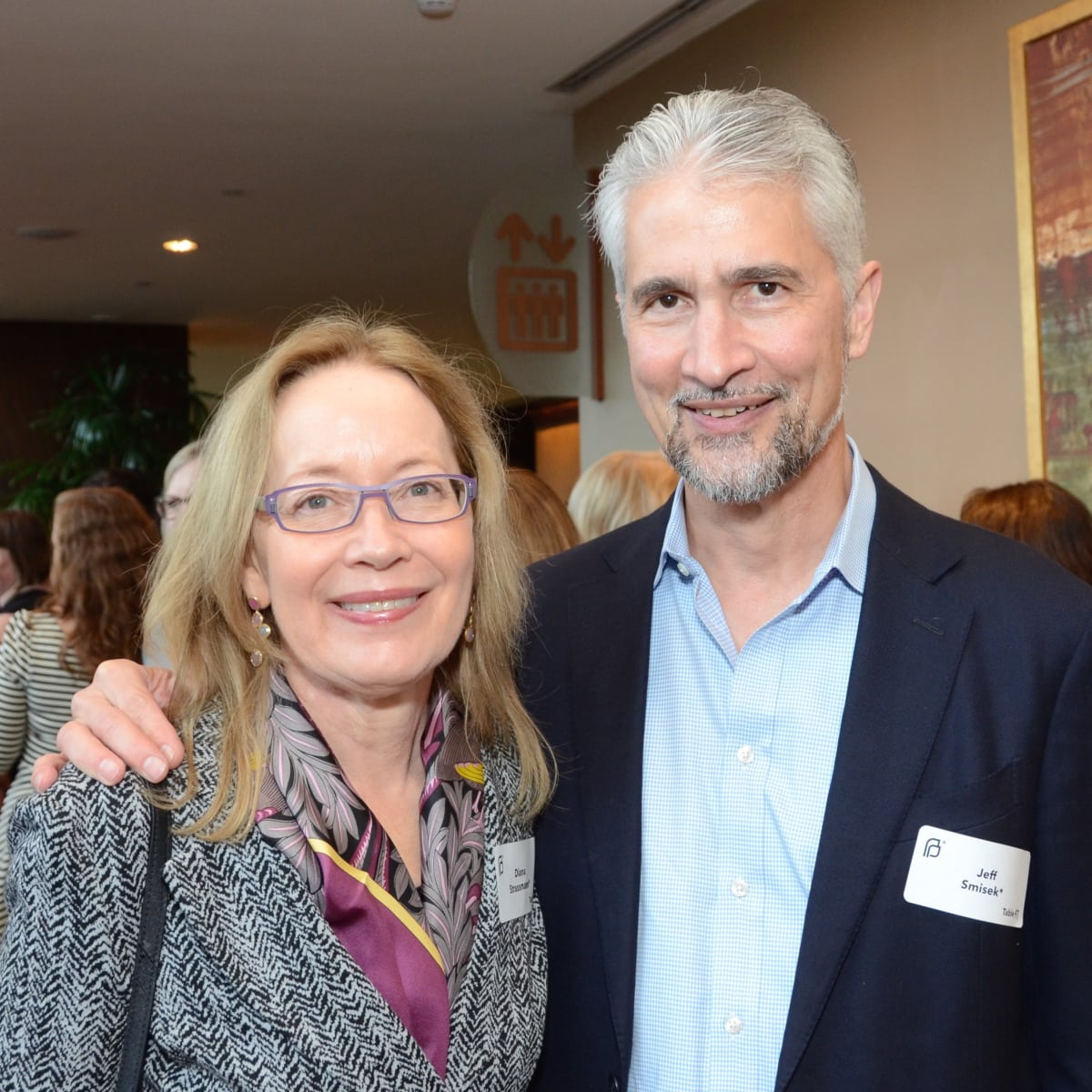 Diana Strassmann, Jeff Smisek at Planned Parenthood luncheon