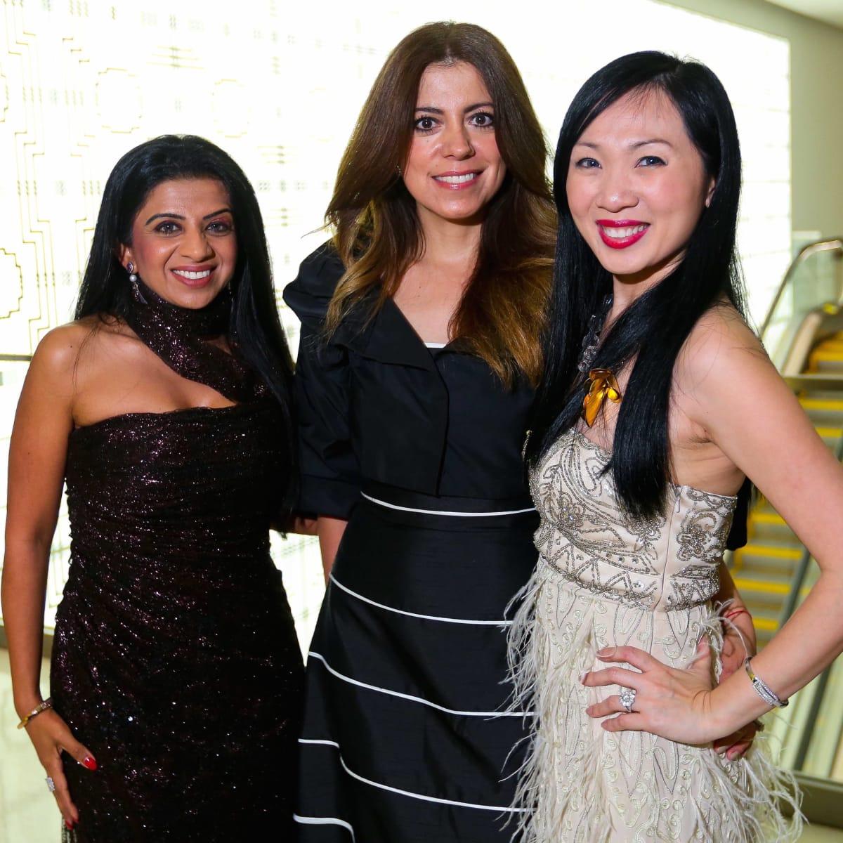 "Farida Abjani, Liliana Ary and Connie Kwan-Wong at the Ars Lyrica ""Roaring Twenties"" Gala"