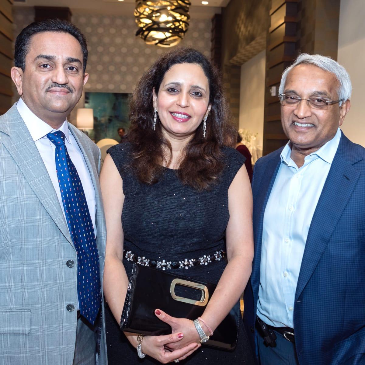Houston, Pratham Houston's gala kickoff, March 2017, Pankaj Dhume, Asha Dhume, Dr. Madaiah Revani