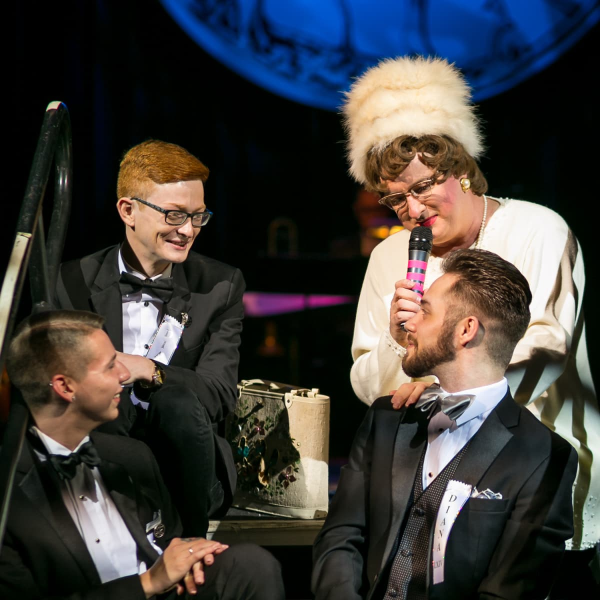 Sister Helen Holy  with Joshua Cauley, Travis Deshotel and Randall Magill at Diana Awards
