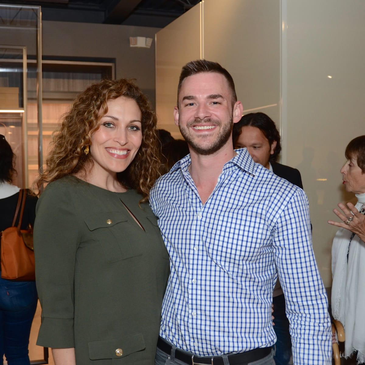 BeDESIGN cocktail party, Carla Muñoz, Adam Cook