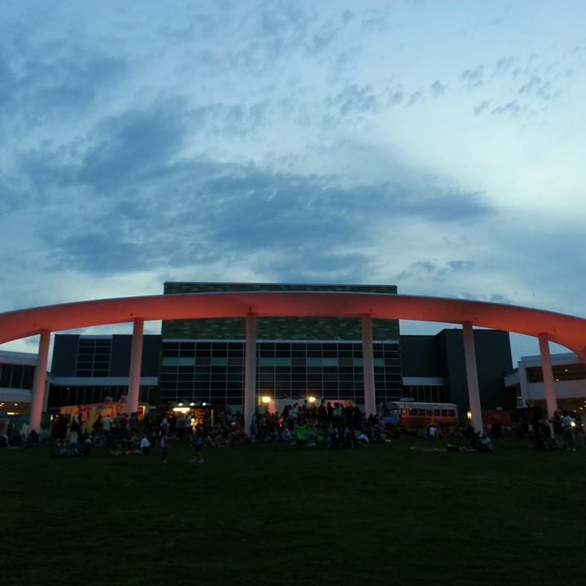 The Long Center at night for Trailer Food Tuesdays
