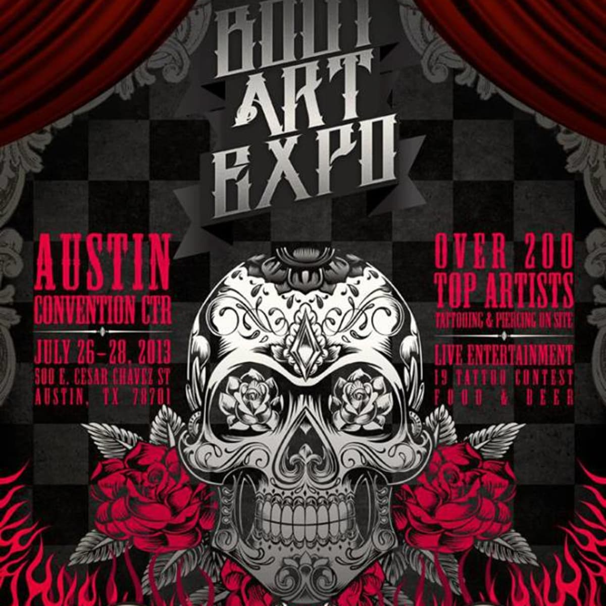 BodyArtExpo tattoo and piercing convention flyer