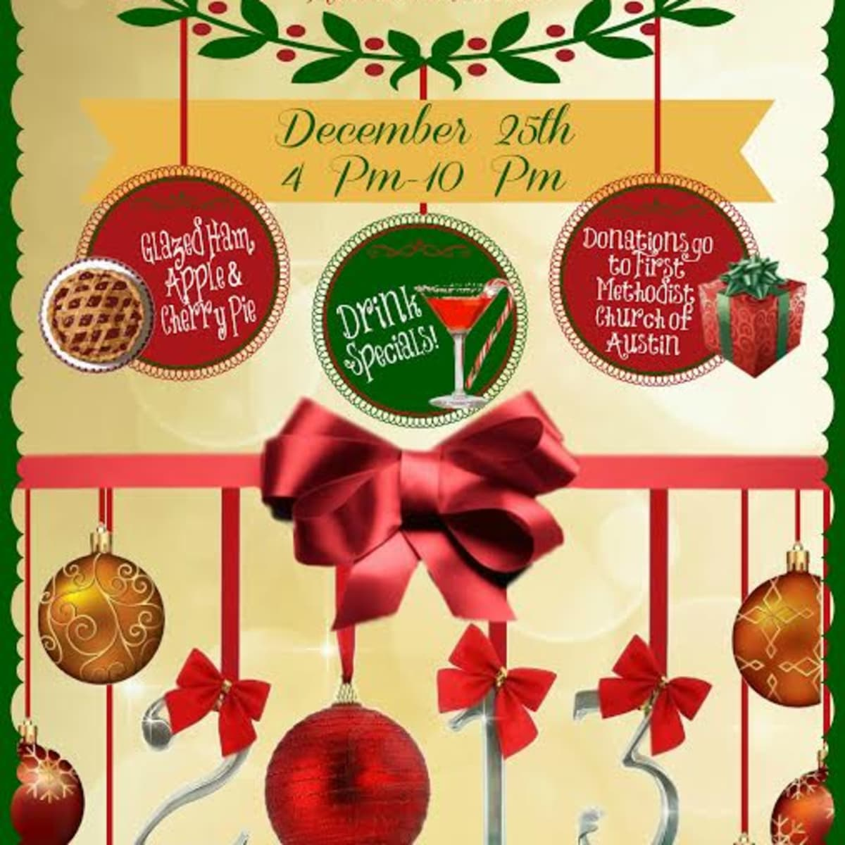 flyer for Russian House Christmas day buffet