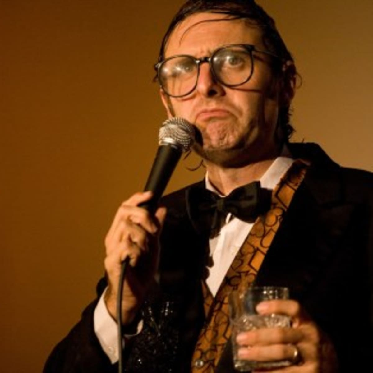 comedian Neil Hamburger performing stand up