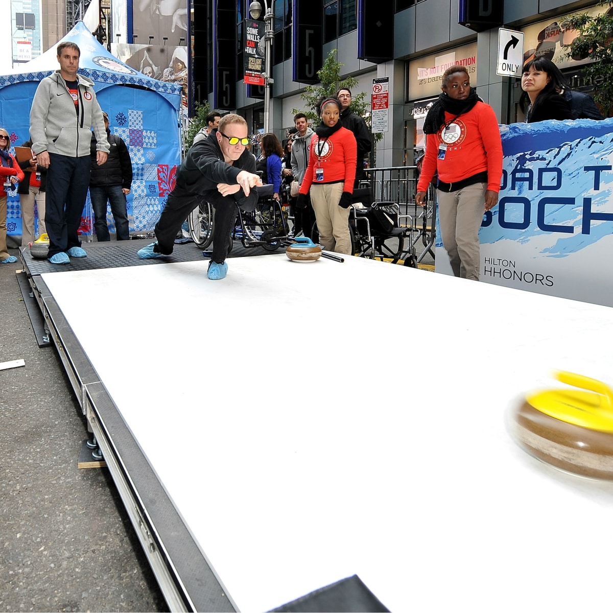 Curling at Road to Sochi Tour