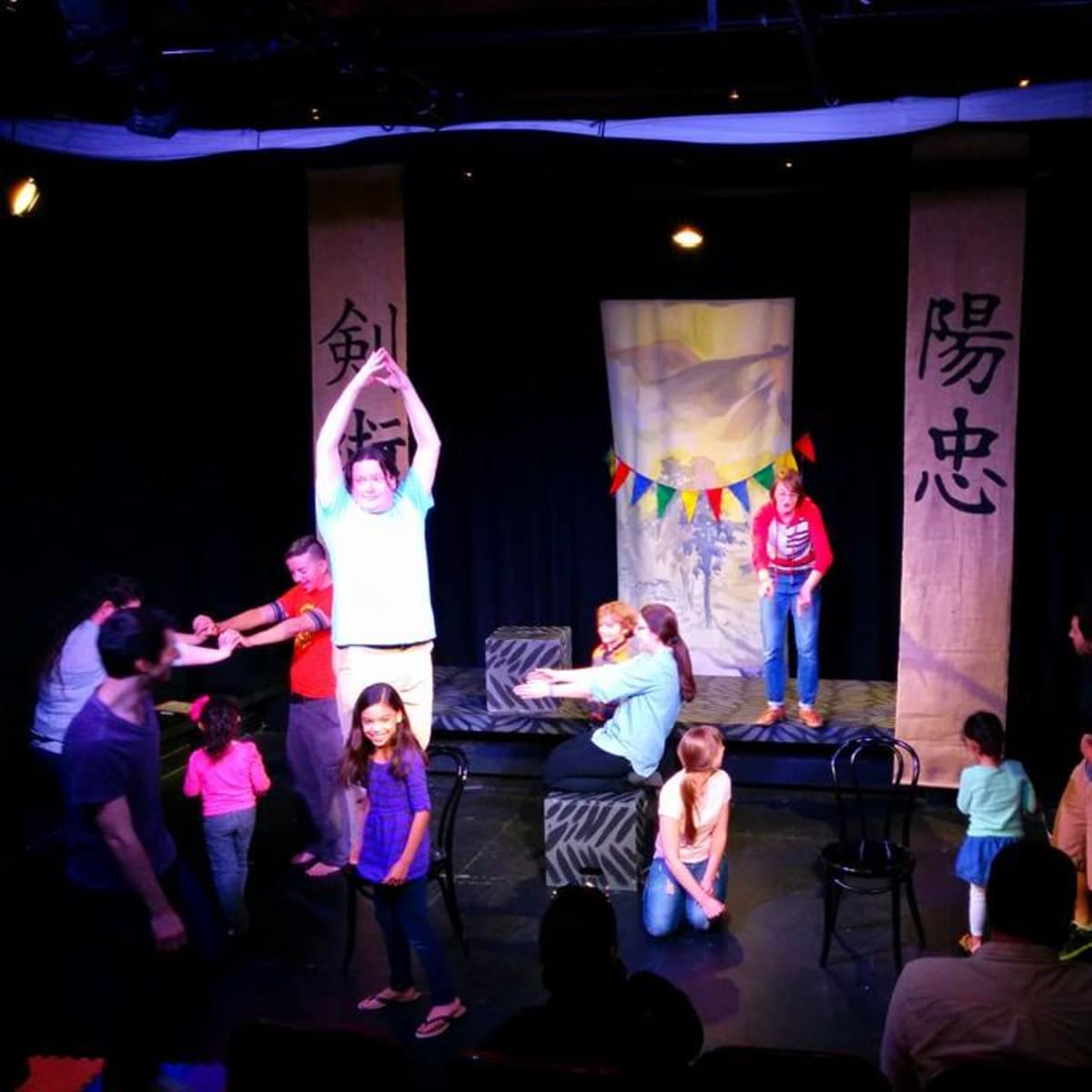 kids and family performing at Flying Theater Machine at The Hideout Theatre
