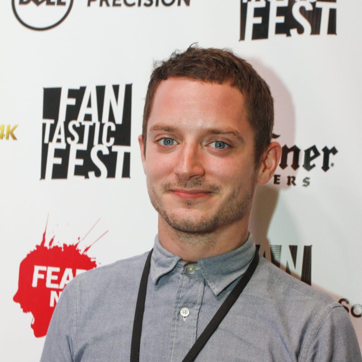 Elijah Wood at red carpet premiere of Grand Piano at Fantastic Fest