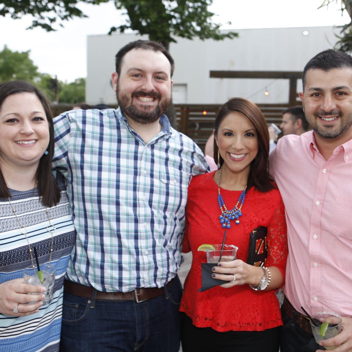 Sarah and Matt Fornea, from left, Rebecca Cantu and Talal Hariri at Friends of DePelchin's Fiesta May 2014