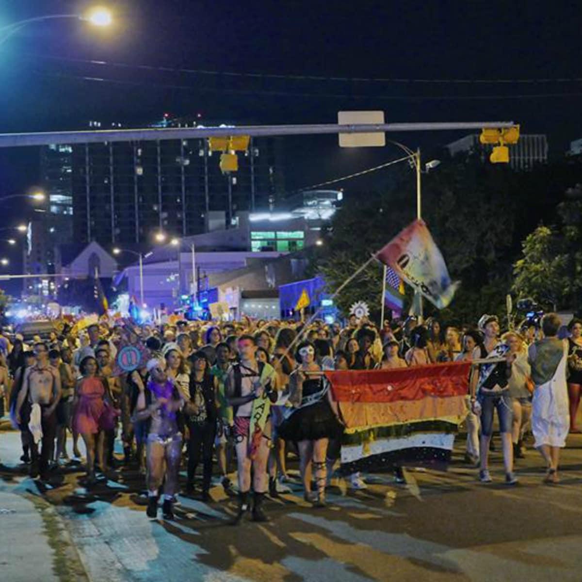 QueerBomb_Austin_LGBT pride parade_Pine Street Station_2014