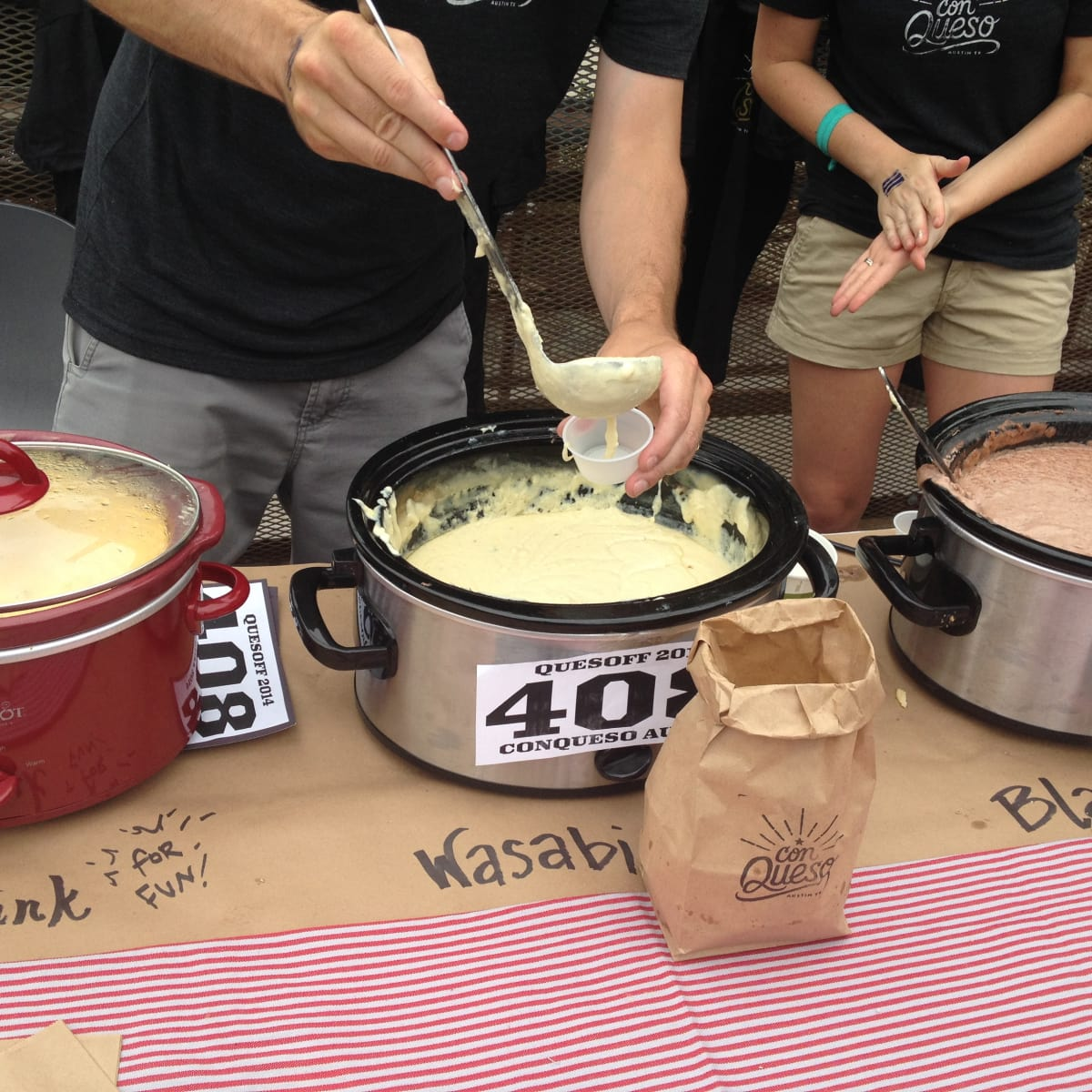 Con Queso competitors at Quesoff IV