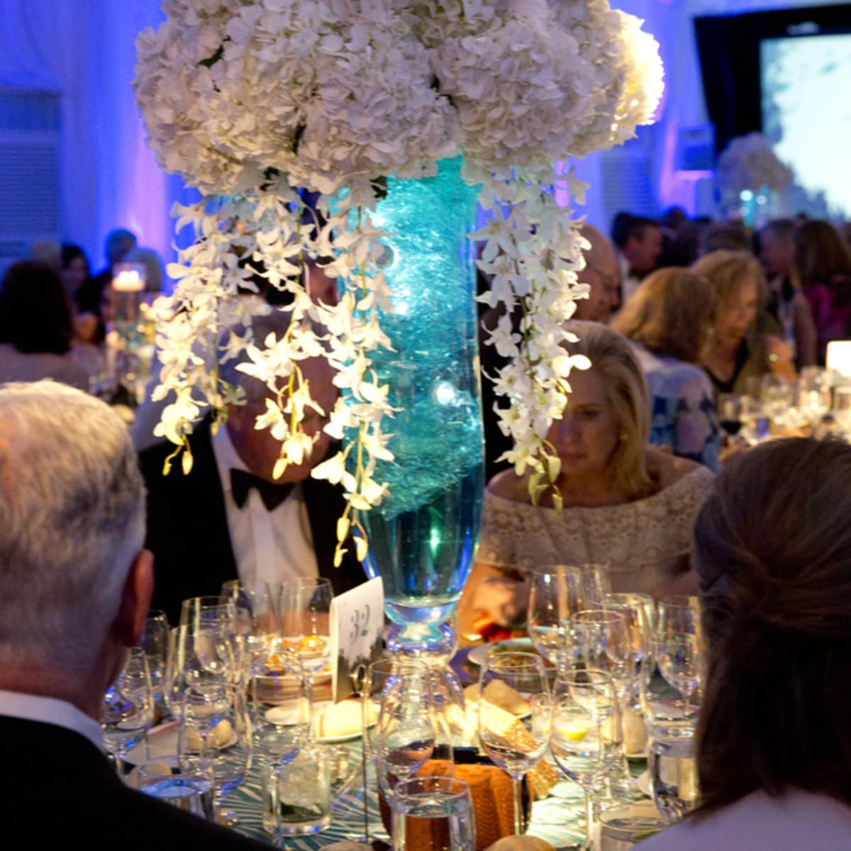 Houston, Zoo Ball Aquatic Affair, April 2017, flowers