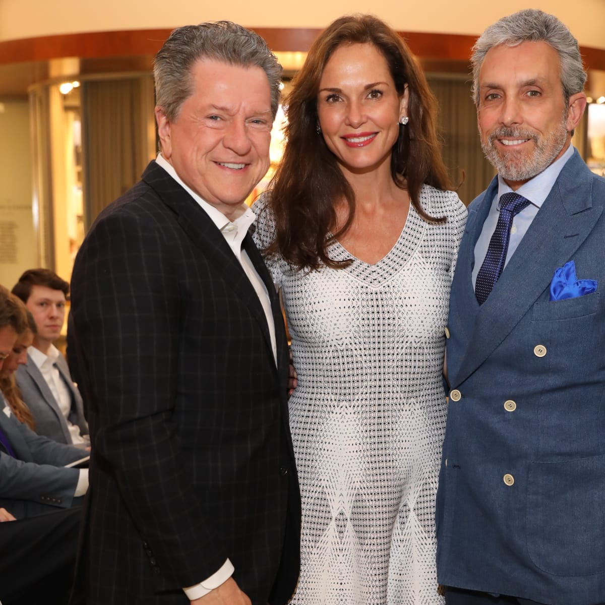 Bill Stubbs, Clo Cohen, Charles Cohen at Decorative Center Spring Market