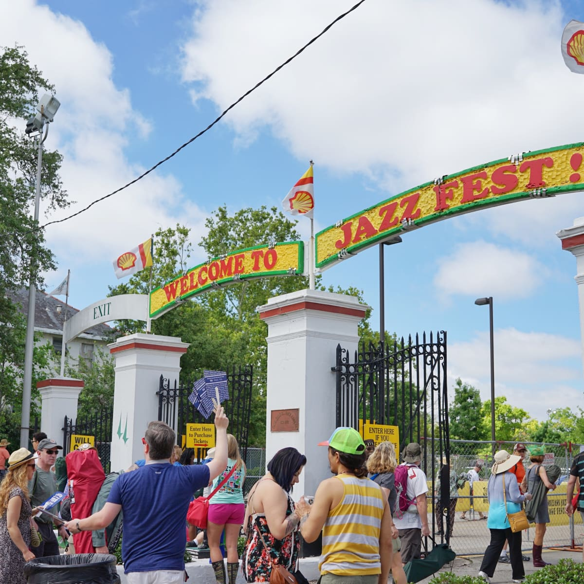 Jazz Fest in New Orleans entrance