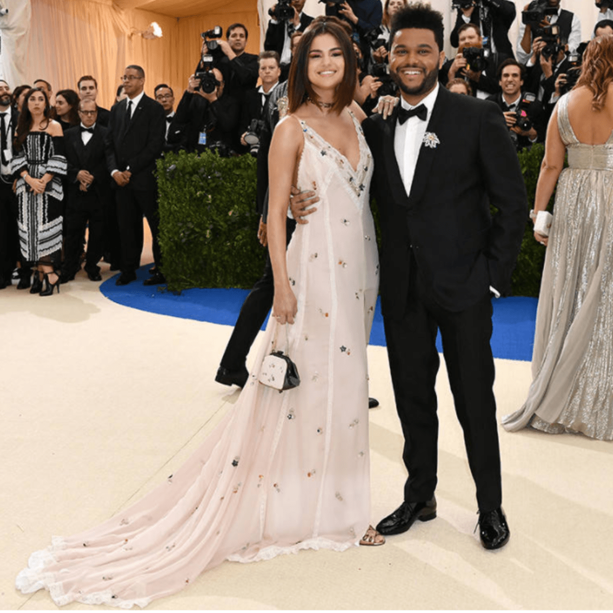 The Weeknd Selena Gomez at Met Costume Institute Gala