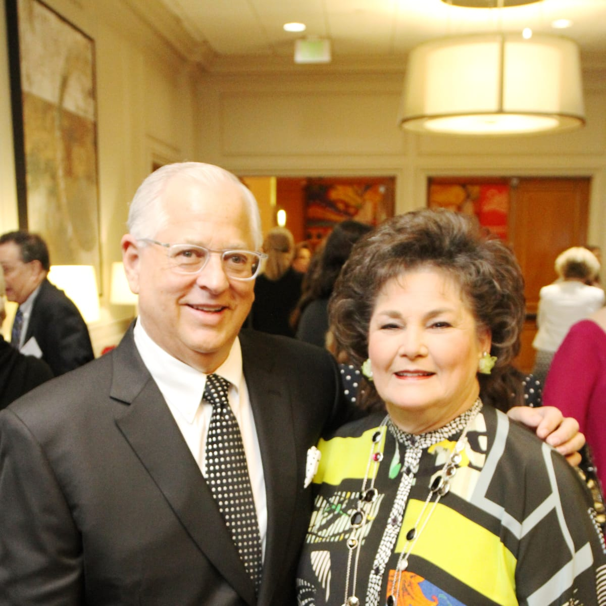 Steve Borick, Barbara Robertson at Menninger Clinic luncheon