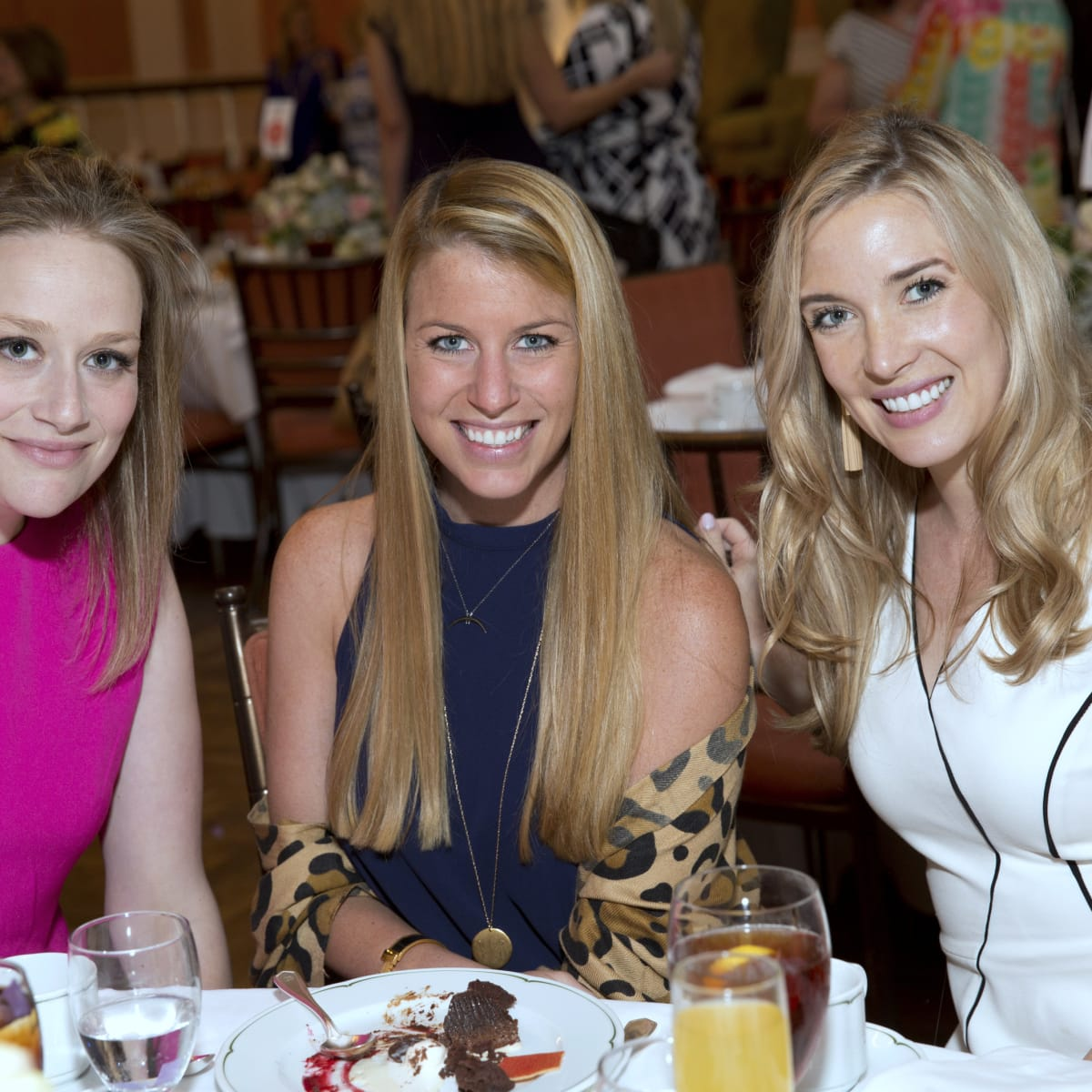 Houston, Spaulding for Children luncheon, May 2017, Molly Johnson, Presley Lumpkins, Elizabeth Wilhite