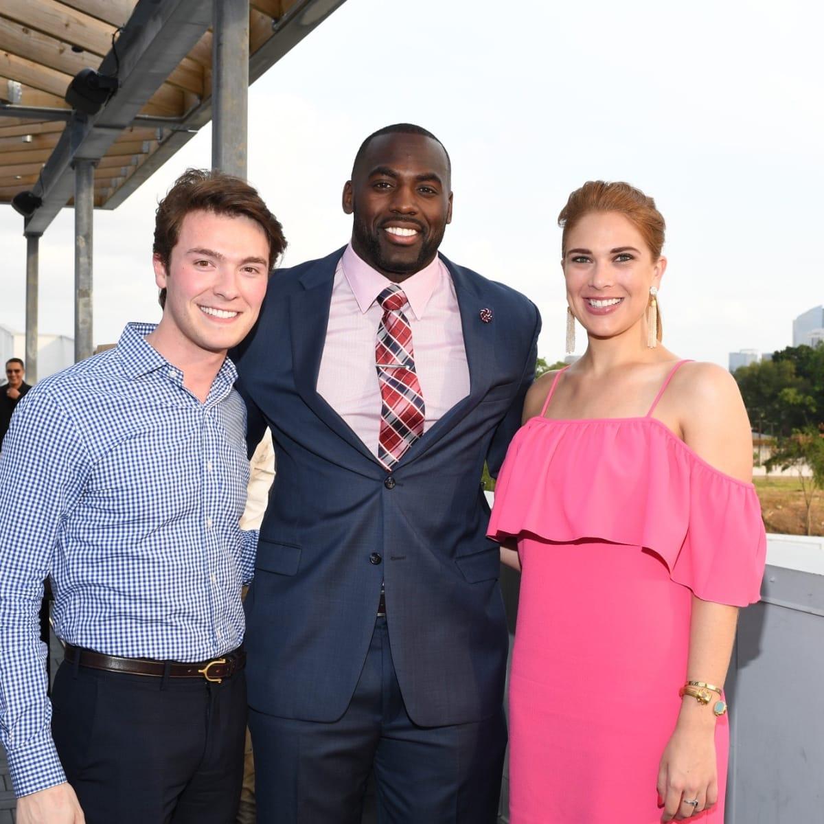 Will Finnorn, Whitney Mercilus, Alexa Bode at Barbara Bush Foundation Gala kickoff