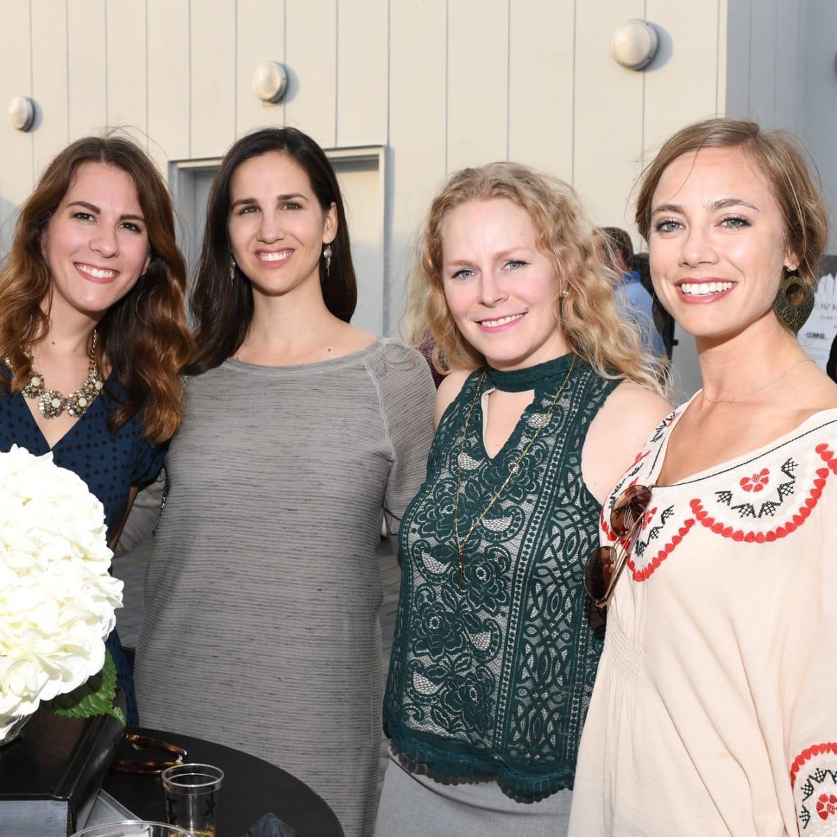 Kristin Rozanski, Kirstin Brenders, Emily Smith, Mary Maloney at Barbara Bush Foundation gala kickoff