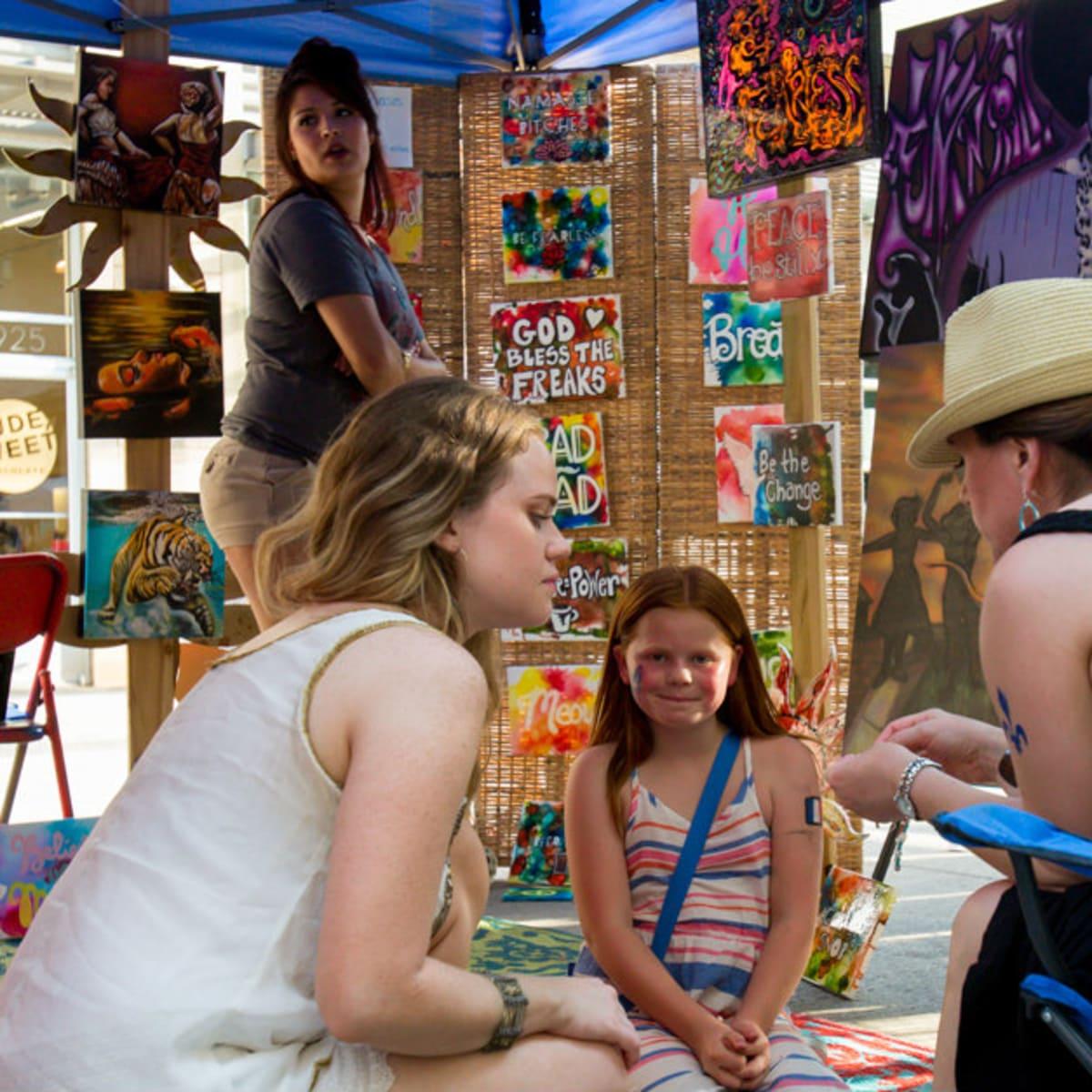 West 7th Crockett Creates art festival