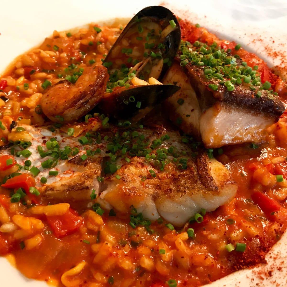 Brasserie du Parc seafood risotto