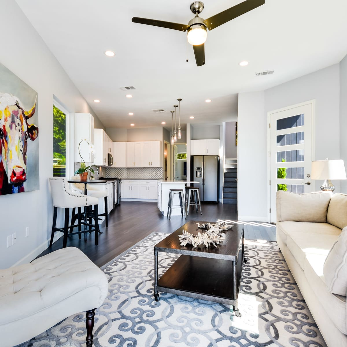 2406 E 16th St Austin house for sale living room