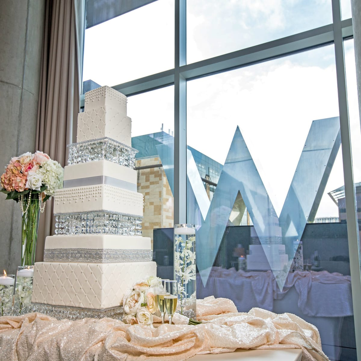 Wedding cake at W Austin